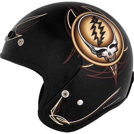 River Road Grateful Dead Open Face Helmet - Steal Your Face Vintage - Main