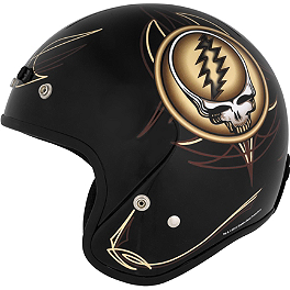 River Road Grateful Dead Open Face Helmet - Steal Your Face Vintage - River Road Grateful Dead Open Face Helmet - Vintage Cyclops