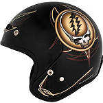 River Road Grateful Dead Open Face Helmet - Steal Your Face Vintage - Motorcycle Open Face