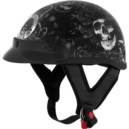 River Road Grateful Dead Helmet - Skulls & Roses - Main