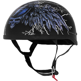 River Road Grateful Dead Helmet - Steal Your Face Storm - BikeMaster 520 Standard Master Link - Clip Style