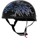 River Road Grateful Dead Helmet - Steal Your Face Storm - Motorcycle Half Shell Helmets