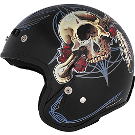 River Road Grateful Dead Open Face Helmet - Vintage Cyclops - River Road Grateful Dead Open Face Helmet - Steal Your Face Vintage