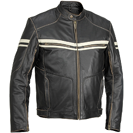 River Road Hoodlum Jacket - River Road Baron Retro Leather Jacket