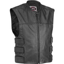 River Road Harrier Leather Tac Vest - Speed & Strength Tough As Nails Leather Vest