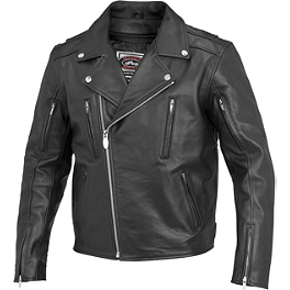 River Road Ironclad Leather Jacket - River Road Ironclad Perforated Leather Jacket
