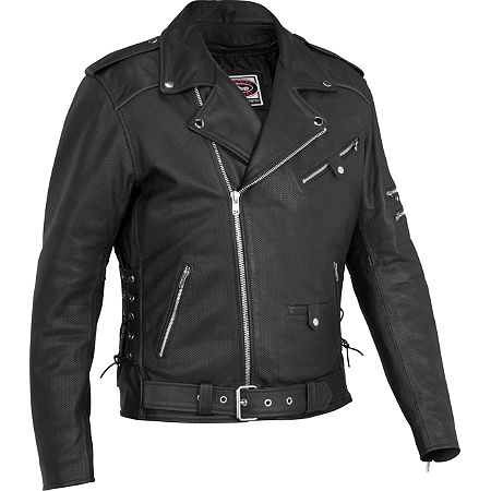 River Road Ironclad Perforated Leather Jacket - Main