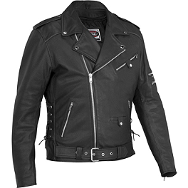 River Road Ironclad Perforated Leather Jacket - River Road Grateful Dead Skull & Roses Color Jacket