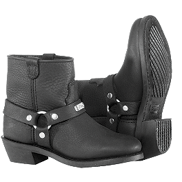 River Road Women's Lo Cut Ranger Harness Boots - River Road Women's Twin Buckle Engineer Boots
