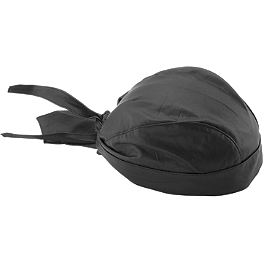 River Road Leather Skull Cap - River Road Drawstring Skull Cap