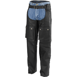 River Road Moto Leather Chap - Power Trip Power Leather Chaps