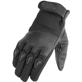 River Road Mystic Leather/Mesh Gloves - River Road Zephyr TouchTec Gloves