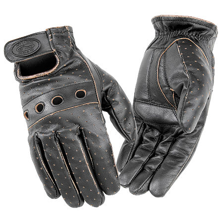 River Road Outlaw Vintage Leather Gloves - Main