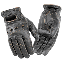 River Road Outlaw Vintage Leather Gloves - River Road Swindler Distressed Gloves