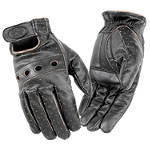 River Road Outlaw Vintage Leather Gloves - River Road Shorty Cruiser Gloves