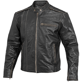 River Road Petro Leather Jacket - Fly Racing 9MM Helmet