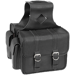 River Road Momentum Series Compact Saddlebags With Quick Release Straps - River Road Women's Plain Leather Vest