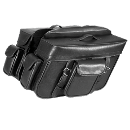River Road Momentum Series Extra Large Slant Saddlebags With Quick Release Straps - River Road Leather Lever Covers