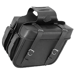 River Road Momentum Series Large Slant Saddlebags With Quick Release Straps - River Road Harrier Leather Tac Vest