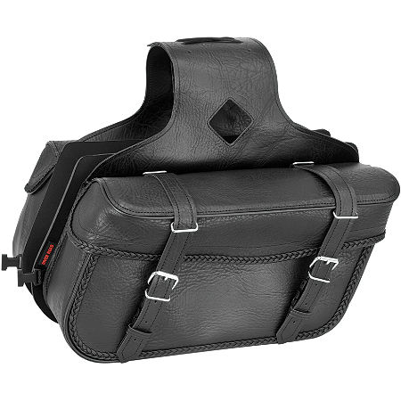 River Road Momentum Series Medium Slant Saddlebags With Quick Release Straps - Main