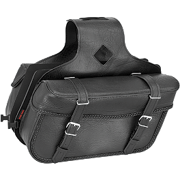 River Road Momentum Series Medium Slant Saddlebags With Quick Release Straps - River Road Leather Biker Wallet