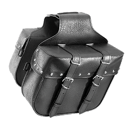 River Road Momentum Series Compact Slant Saddlebags With Quick Release Straps - River Road Vandal Leather Vest