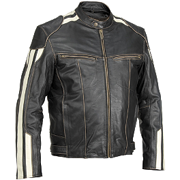 River Road Roadster Jacket - River Road Baron Retro Leather Jacket