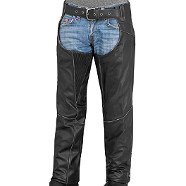 River Road Rambler Leather Chaps - River Road Sturgis Leather Gloves