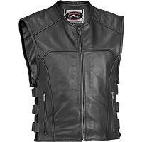 River Road Ruffian Leather Perforated Vest