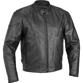 River Road Race Vented Leather Jacket - River Road Scout Jacket