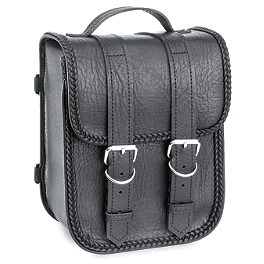 River Road Momentum Series Sissy Bar Bag - River Road Quest Series Rigid Zip Off Box Saddlebags With Security Lock