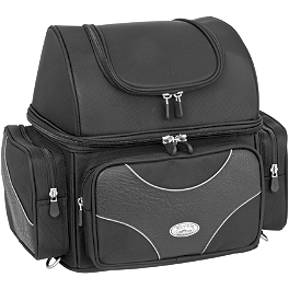 River Road Spectrum Series Textile Sissy Bar Bag - River Road Quantum Series Zip Off & Quick Release Compact Saddlebags