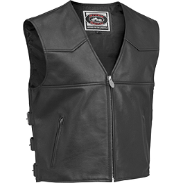 River Road Plains Leather Vest - Pokerun Cutlass 2.0 Leather Vest