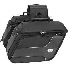 River Road Spectrum Series Slant Textile Saddlebags - TourMaster Cruiser III Nylon Slant Saddlebag - Large