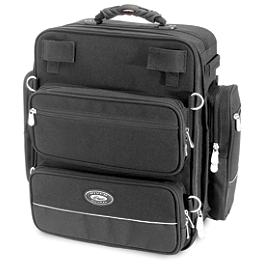 River Road Spectrum Series Sissy Bar Tall Trunk Bag - River Road Momentum Series Large Slant Saddlebags With Quick Release Straps