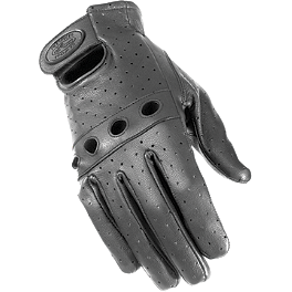 River Road Sturgis Leather Gloves - River Road Outlaw Vintage Leather Gloves