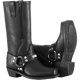 River Road Women's Square Toe Zip Harness Boots - River Road Women's Twin Buckle Engineer Boots