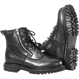 River Road Side-Zip Highway Boots - River Road Crossroads Buckle Boots