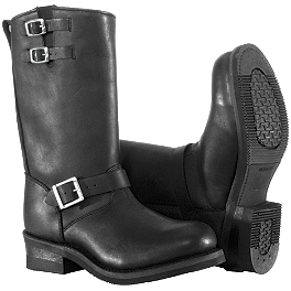 River Road Twin Buckle Engineer Boots - River Road Ranger Harness Boots