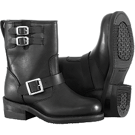 River Road Women's Twin Buckle Engineer Boots - River Road Women's Square Toe Zip Harness Boots