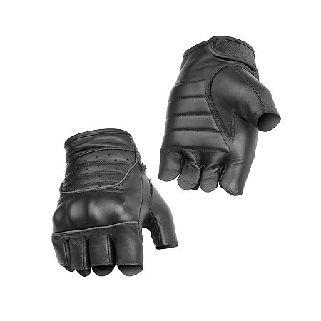 River Road Twin Iron Shorty Leather Gloves - Main