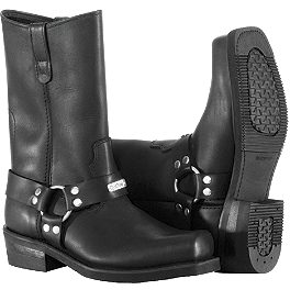 River Road Traditional Square Toe Harness Boots - Arai XD3 Shield