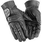 River Road Tucson Leather Gloves - River Road Shorty Cruiser Gloves