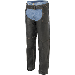 River Road Vintage Leather Chap - River Road Drifter Distressed Chaps