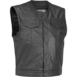 River Road Vandal Leather Vest - River Road Ruffian Leather Perforated Vest