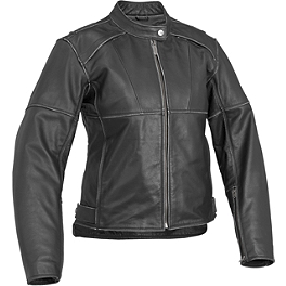 River Road Women's Rambler Leather Jacket - River Road Women's Biker Girl Skull Graphix Leather Jacket