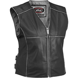 River Road Women's Rambler Leather Vest - River Road Women's Granite Leather Vest