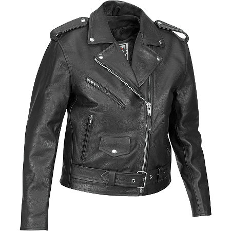River Road Women's Basic Leather Jacket - Main