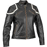 River Road Women's Babe Vintage Leather Jacket - River Road Cruiser Riding Gear