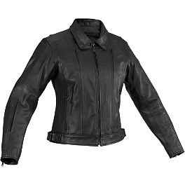 River Road Women's Cruiser Leather Jacket - River Road Women's Race Vented Leather Jacket